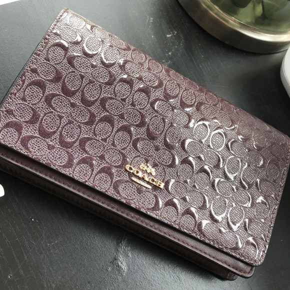 Coach Handbags - Purple shimmer new coach wallet